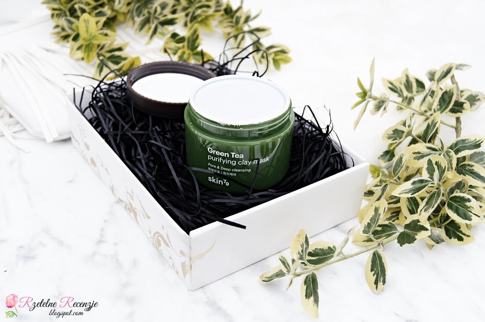 maska do twarzy, oczyszczająca maska z zieloną herbatą, skin79