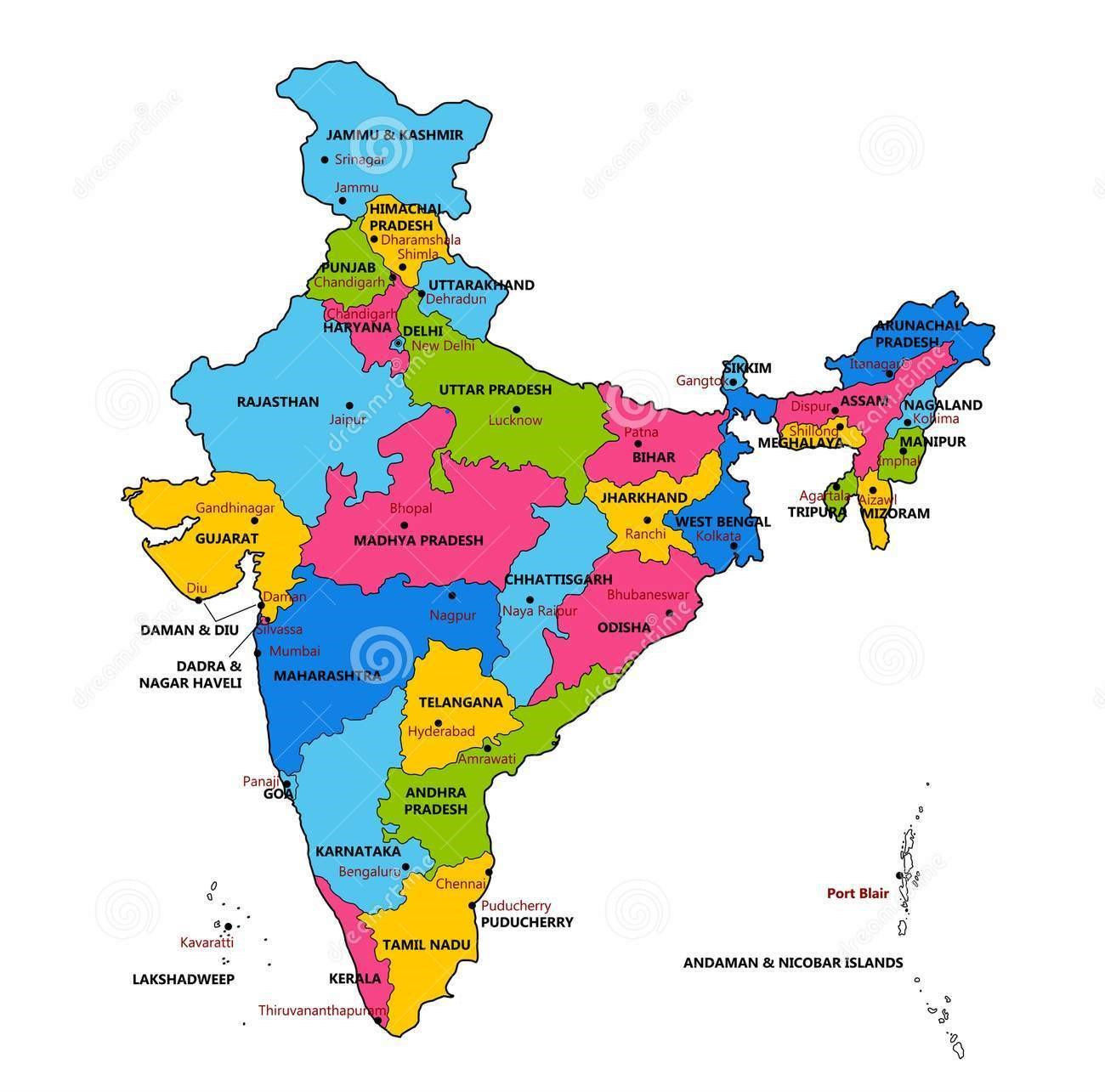 Short Note On India - Area, Religion, Population, Government