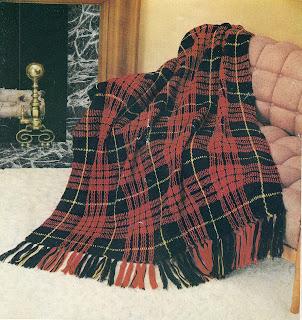 Vintage Tartan Plaid Afghan Crochet Pattern