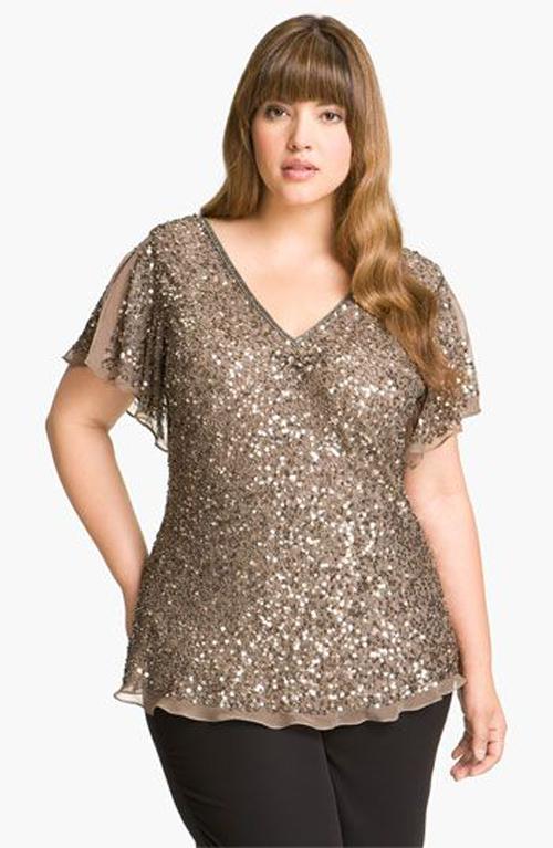bajo precio 9ec07 e1bc1 Blusas elegantes para gorditas   Solo para Gorditas