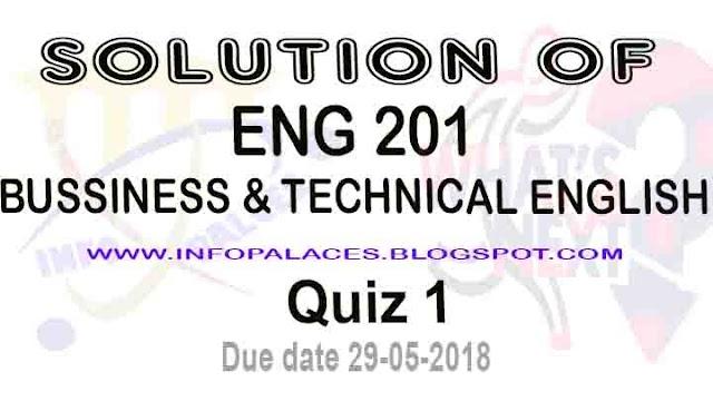 ENG 201 Quiz 1 Spring 2018