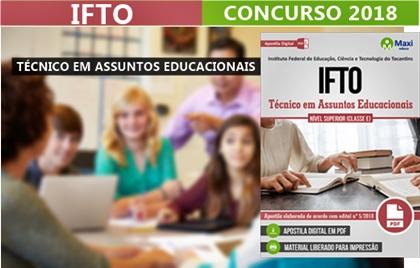 Concurso IFTO 2018