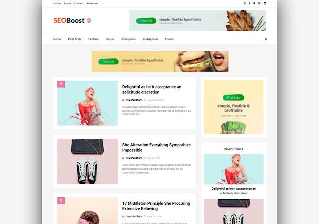 Seo Boost Blogger Template Responsive Seo Optimized