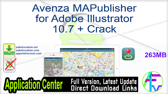 Avenza MAPublisher for Adobe Illustrator 10.7 + Crack