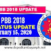 PBB 2018 Status Update as of February 15