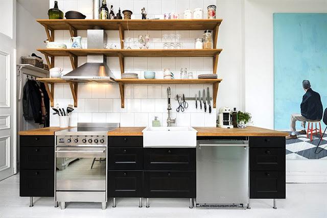 Cocina - Agradables detalles en tono pastel para este precioso mini piso nordico