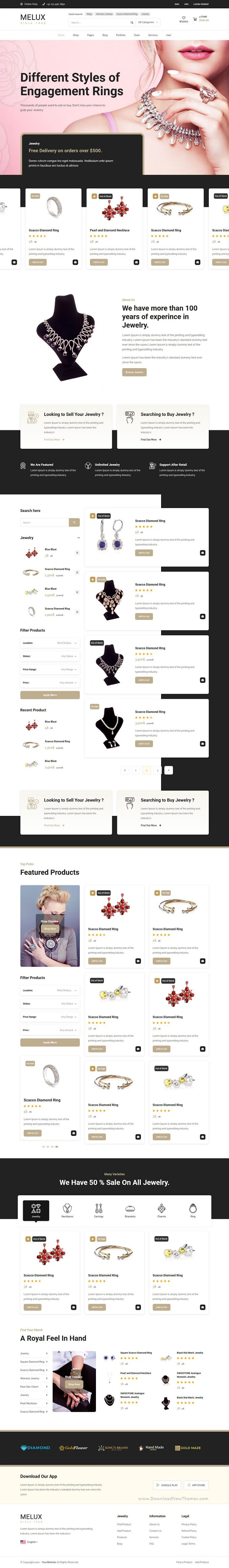Jewelry HTML Template