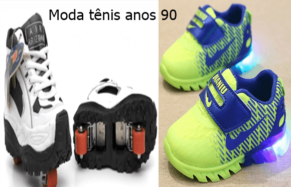 Tênis moda anos 90