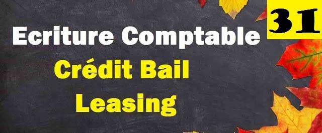 Ecriture comptable de crédit-bail ou leasing