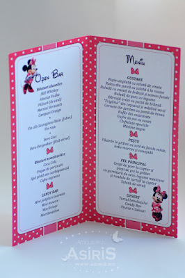 Meniu botez tematic - Minnie Mouse interior
