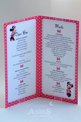 Meniu botez tematic - Minnie Mouse interior