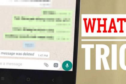 Cara mengembalikan pesan yang sudah Terhapus pada WHatsAPP
