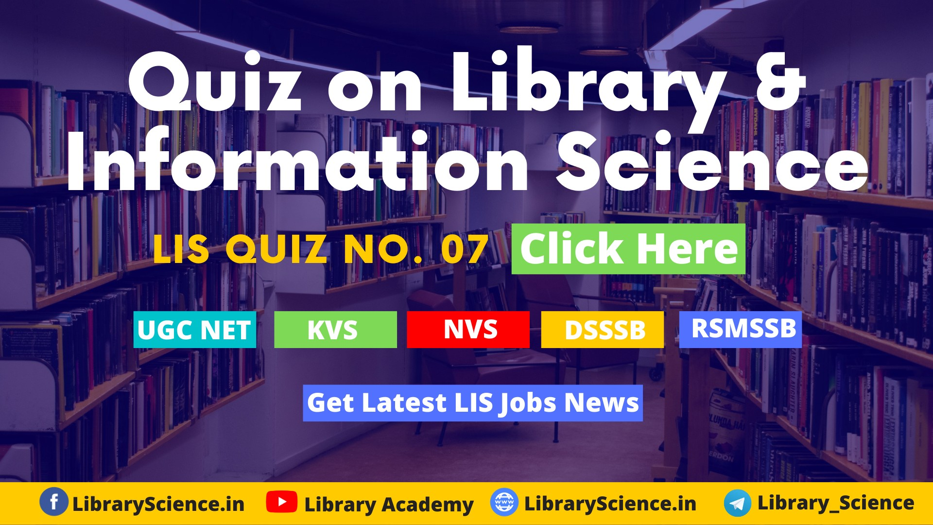 Quizzes on Library and Information Science
