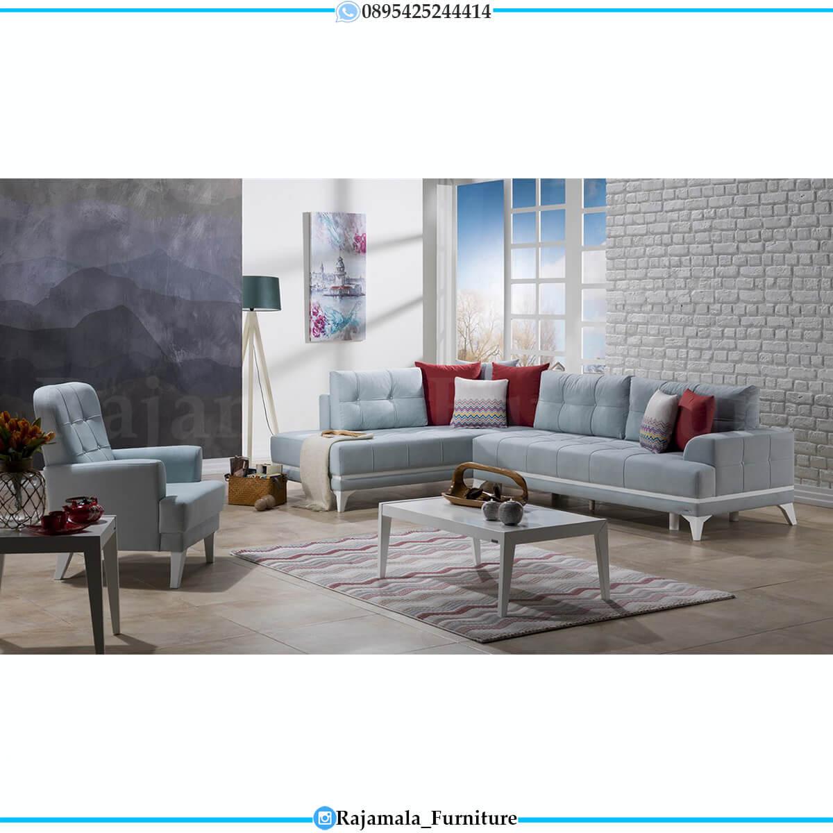 Best Seller Sofa Tamu Minimalis Terbaru White Duco Luxury Adorable Color RM-0629