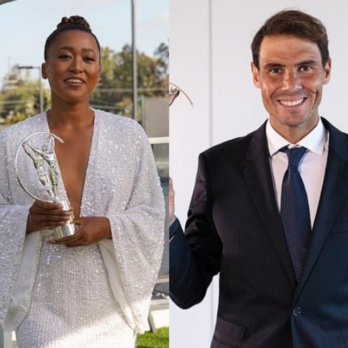 Rafael Nadal and Naomi Osaka win Laureus World Sports man/woman of the year