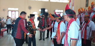 Gubernur Jambi Menghadiri Pelantikan Pengurus Horas Bangsa Batak (HBB) DPD Provinsì Jambi Tahun 2019.