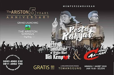 Konser Didi Kempot Temanggung The Ariston 5 Years Anniversary