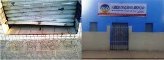 Igreja evangélica e panificadora são arrombadas durante a madrugada em São Vicente do Seridó