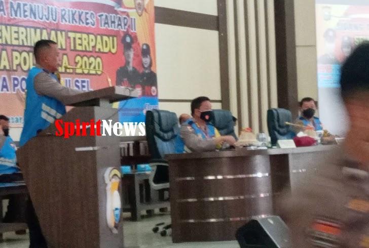 Wakapolda Sulsel, Pimpin Sidang  Kelulusan Terbuka Casis Bintara Polri Menuju Rikkes Tahap II TA 2020
