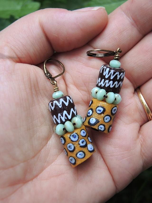 "DIY oorbellen/earrings  ""Adjowa"""