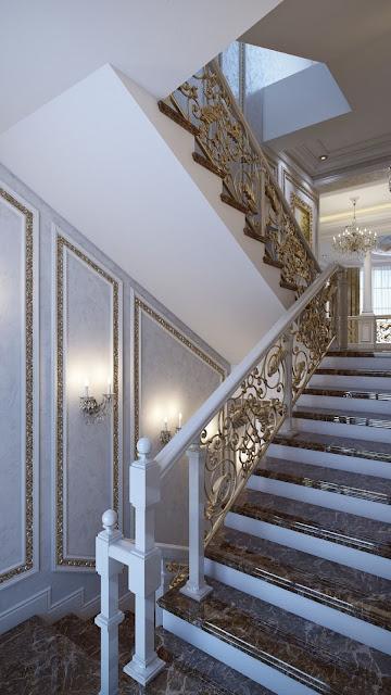 staircase railing design modern