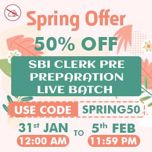 Get 50% Off on SBI Live Batches   Spring Offer