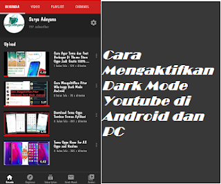 Cara Mengaktifkan Dark Mode Youtube di Android dan PC