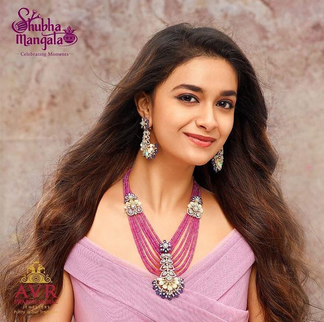 Keerthi Suresh Ruby Beads Set