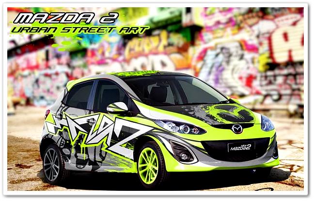Gambar Motif Cutting Sticker Mobil Terbaru Yang Ngetrend