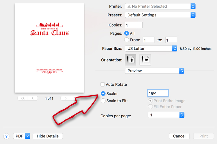 Resizing Printables