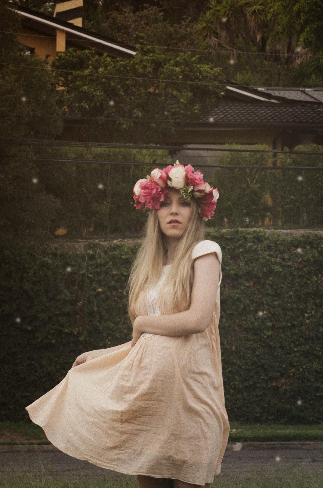 colección de imágenes de coronas de flores para el pelo