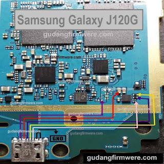 Jalur USB Charger Samsung Galaxy J1 SM-J120G