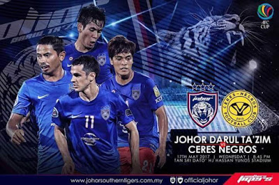 Live Streaming  JDT FC vs Ceres Negros AFC Cup 17 Mei 2017