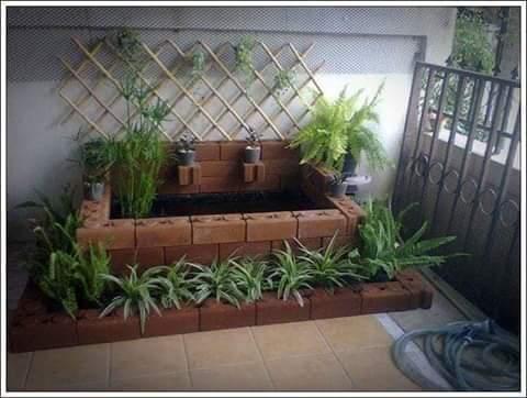 contoh desain kolam ikan batu bata terbaru - foto desain