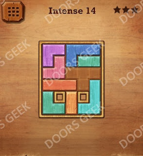 Cheats, Solutions, Walkthrough for Wood Block Puzzle Intense Level 14