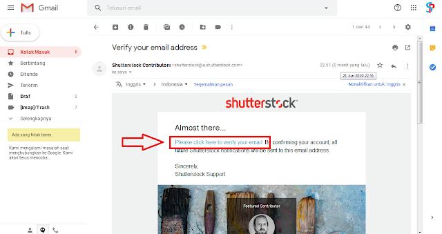 verifikasi email kalian
