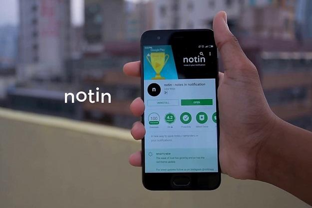 Notin - Κρατήστε σημειώσεις στις ειδοποιήσεις του κινητού σας