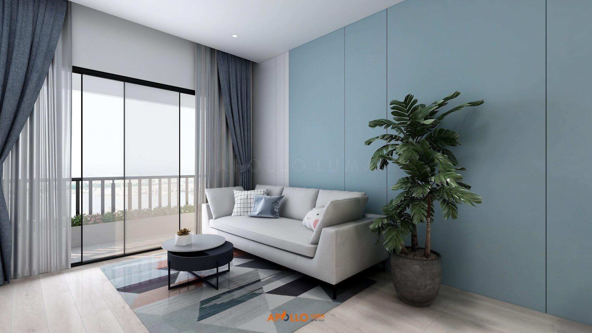 Thiết kế nội thất căn hộ 2PN (67.8m2) Phương Đông Green Park