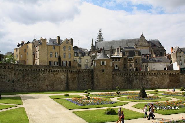 Muralla de Vannes con sus torres