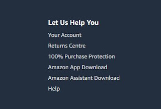 "2. There is a ""Help"" button at the bottom of the Amazon page, click it"