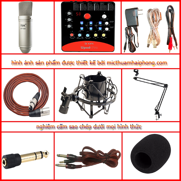 Bộ Icon Upod Pro Micro thu âm ISK AT100