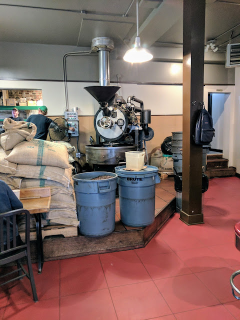 Coffee in Seattle's Fremont neighborhood: Lighthouse Roasters roasting equipment