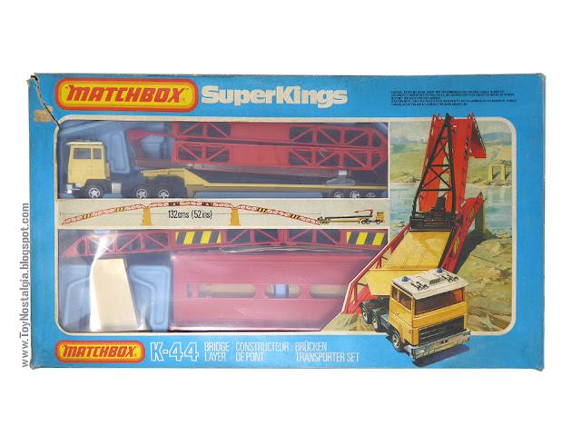 MATCHBOX - Super Kings - Construction Bridge Layer  K-44 Caja Frente - Made in England - 1981 (Lesney England)