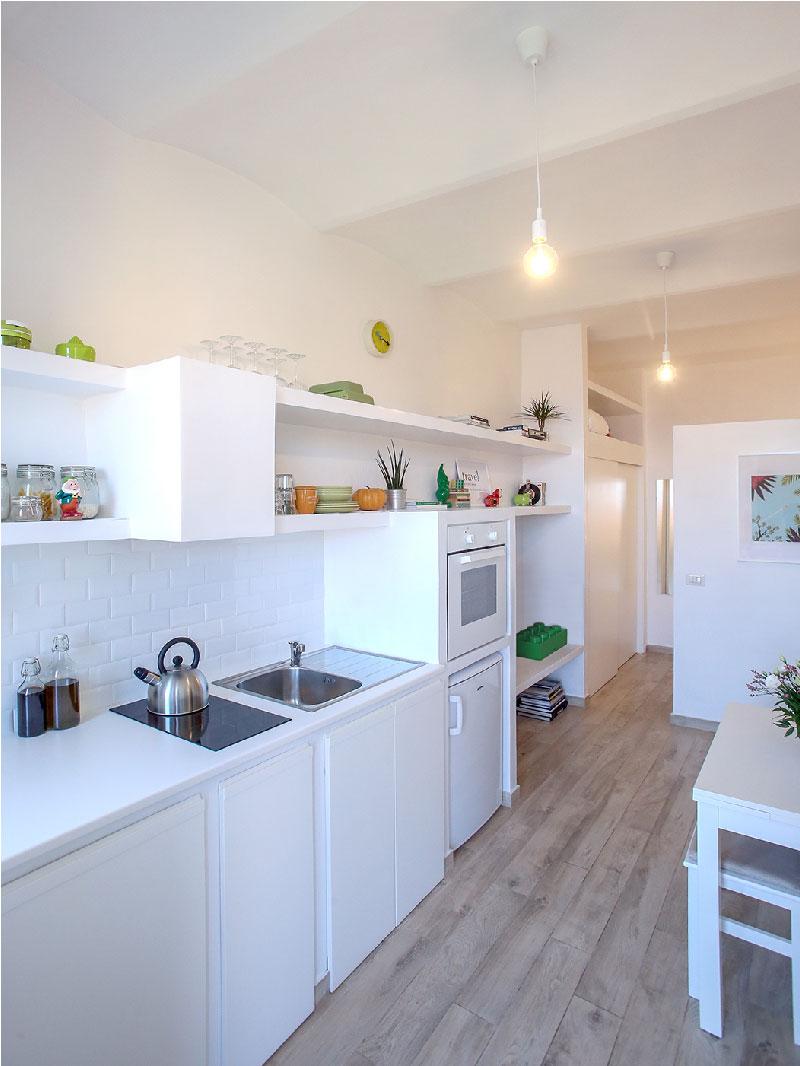 ristrutturazione di un mini appartamento al mare