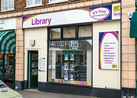 Image of Brookmans Park Library courtesy of Hertfordshire County Council