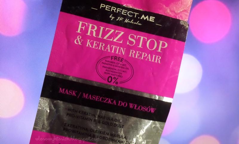 Recenzja #9 maseczka z Biedronki, Perfect Me ~ Frizz Stop & Keratin Repair (różowa)