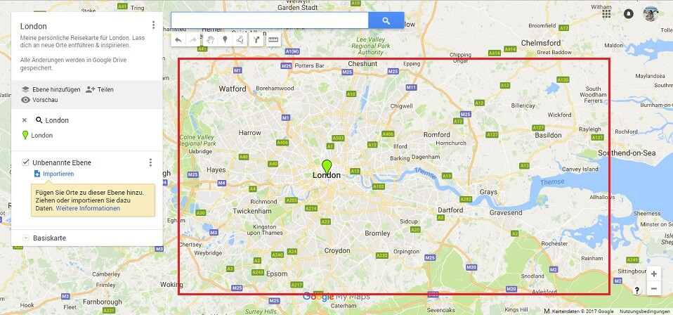 Google Maps Karte London Screenshot