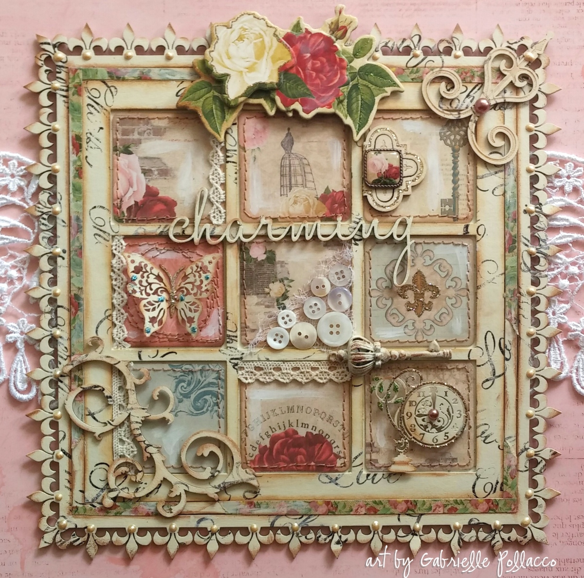 Such a Pretty Mess: Shabby Chic Wall Art {Bo Bunny & Dusty ...