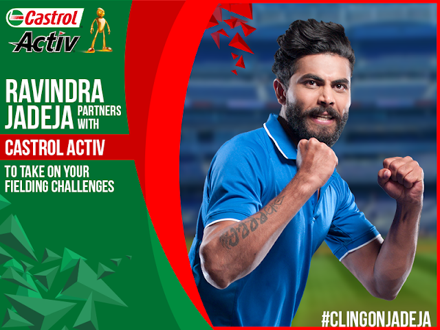 Ravindra Jadeja takes on Castrol Activ Cling On fielding challenges