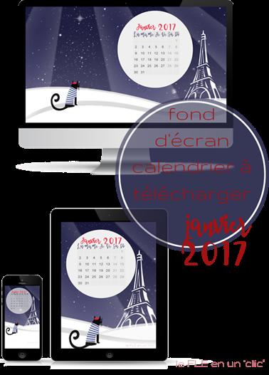 fond d'écran, calendrier janvier 2017, FLE, le FLE en un 'clic'